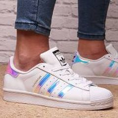 Adidas Superstar tornasoladas, superstar blancas